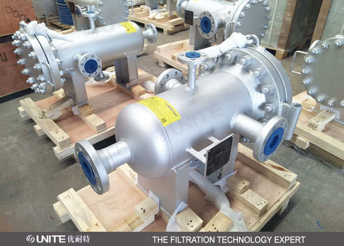 Horizontal Industrial Basket Strainer For Natural Gas Filtration